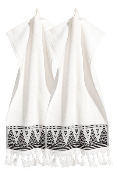2-pack guest towels - White - Home All | H&M CN