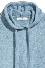 Knitted hooded jumper - Light blue marl - Ladies | H&M CN 2