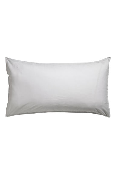 Washed cotton pillowcase - Light grey -  | H&M CN 1
