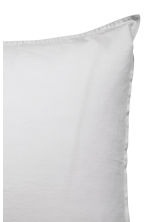 Washed cotton pillowcase - Light grey -  | H&M CN 3