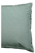 Washed cotton pillowcase - Khaki green -  | H&M CN 3