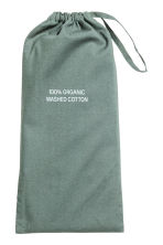 Washed cotton pillowcase - Khaki green -  | H&M CN 2