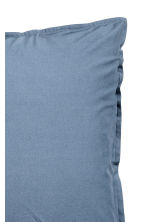 Washed cotton pillowcase - Dark blue - Home All | H&M CN 3