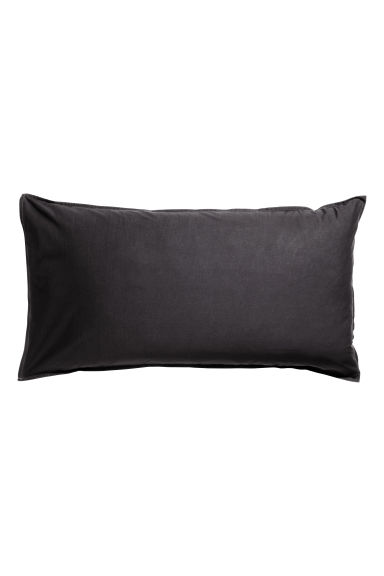 Washed cotton pillowcase - Anthracite grey - Home All | H&M IE 1