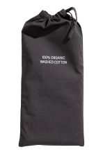 Washed cotton pillowcase - Anthracite grey - Home All | H&M IE 2
