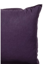 Washed cotton pillowcase - Dark purple - Home All | H&M CN 3