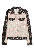 Denim jacket - White/Floral - Ladies | H&M CN 1