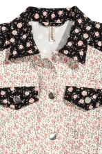 Denim jacket - White/Floral - Ladies | H&M CN 3