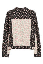 Denim jacket - White/Floral - Ladies | H&M CN 2