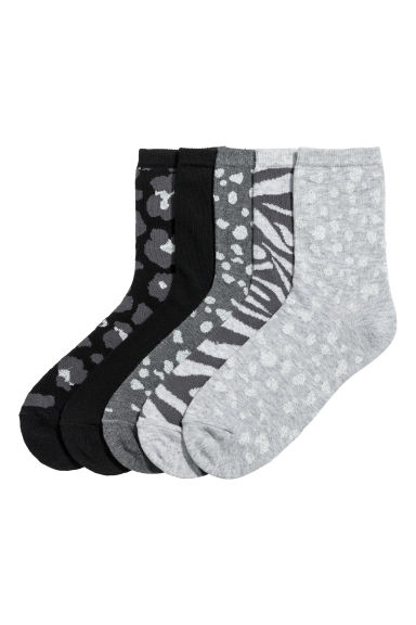 5-pack socks - Grey/Patterned - Kids | H&M CN 1