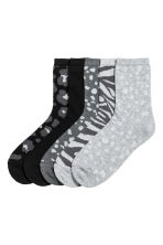 5-pack socks - Grey/Patterned - Kids | H&M 1