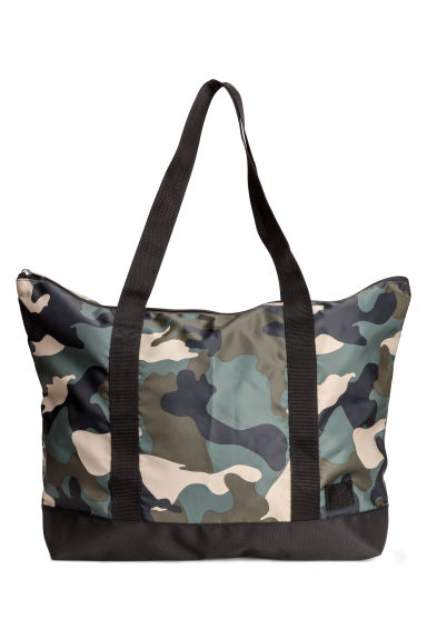 Large shopper - Khaki green/Patterned - Ladies | H&M 1
