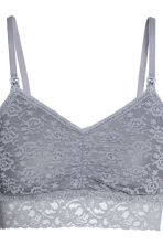 MAMA 2-pack lace nursing bras - Grey-blue - Ladies | H&M CN 5