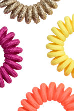 5-pack hair elastics - Coral/Multicoloured - Ladies | H&M CN 2