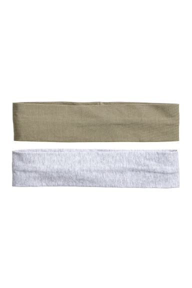 2-pack hairbands - Khaki green/Gry marl - Ladies | H&M CN