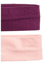 2-pack hairbands - Plum/Powder - Ladies | H&M 2