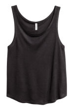 Wide vest top - Black - Ladies | H&M CA 2