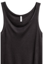 Wide vest top - Black - Ladies | H&M CA 3