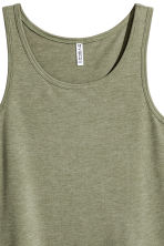Wide vest top - Khaki green - Ladies | H&M 3