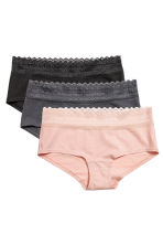 Shortie 3件入內褲 - Powder pink - Ladies | H&M 2