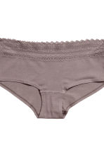 Set van 3 slips - Shortie - Taupe/wit - DAMES | H&M BE 4