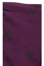 Leggings de punto - Dark purple/Hearts - NIÑOS | H&M ES 2