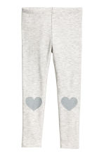 Jersey leggings - Light grey marl - Kids | H&M CN 2