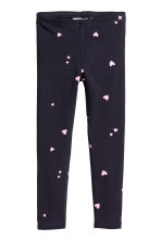 Jersey leggings - Dark blue/hearts - Kids | H&M CA 2