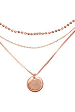 Three-strand necklace - Rose gold - Ladies | H&M CN 2