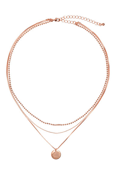 Three-strand necklace - Rose gold - Ladies | H&M