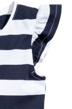 Jersey dress - Dark blue/Striped - Kids | H&M 3