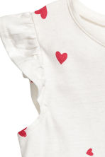 Jersey dress - White/Heart -  | H&M CN 3