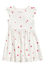 Jersey dress - White/Heart - Kids | H&M CN 2