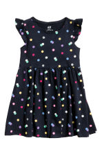 Jersey dress - Dark blue/Spotted - Kids | H&M 1
