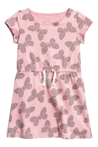 Jersey dress - Pink/Butterflies - Kids | H&M CN