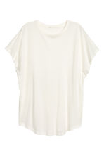 Top with cap sleeves - Natural white - Ladies | H&M 2