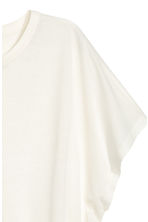 Top with cap sleeves - Natural white - Ladies | H&M 3