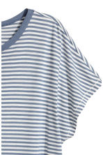 Top with cap sleeves - Blue/white striped - Ladies | H&M CA 2