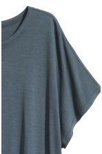 Top with cap sleeves - Green-grey - Ladies | H&M 3