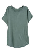 Top with cap sleeves - Petrol - Ladies | H&M 1