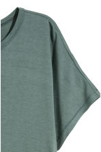 Top with cap sleeves - Petrol - Ladies | H&M 2