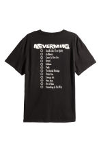T-shirt met print - Zwart/Nirvana - HEREN | H&M BE 3