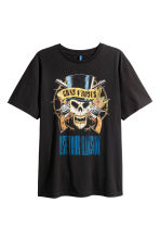 Printed T-shirt - Black/Guns N' Roses - Men | H&M 2