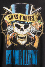Printed T-shirt - Black/Guns N' Roses - Men | H&M CN 5