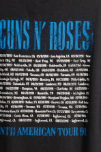 Printed T-shirt - Black/Guns N' Roses - Men | H&M 4