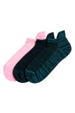 3-pack sports socks - Petrol - Ladies | H&M 1