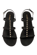 Studded sandals - Black - Ladies | H&M 2