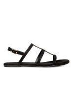 Studded sandals - Black - Ladies | H&M 1