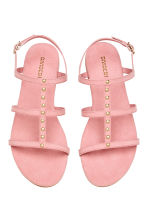 Studded sandals - Light pink - Ladies | H&M 2