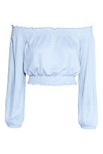 Off-the-shoulder top - Blue - Ladies | H&M 2